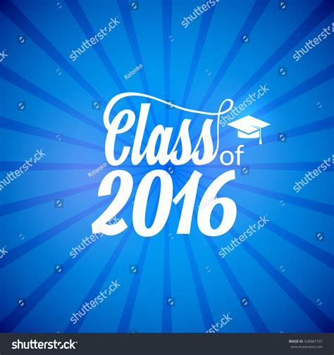 hand drawn lettering typography class of 2016 graduation icon lable lettering for graduation