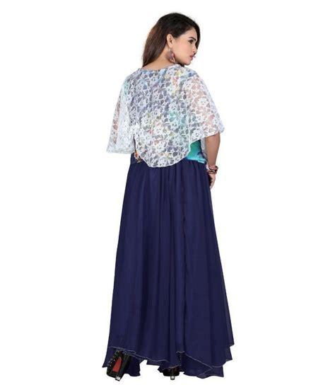 avi fashion house blue georgette dresses buy avi fashion