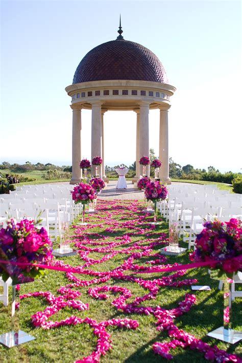 Beautiful Purple Floral Aisle Wedding Decor At The Resort