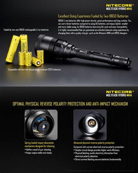 le torche nitecore mh41 21500lumens le torche de chasse longue port 233 e rechargeable