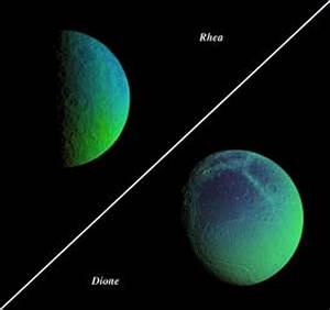 wordlessTech | Saturn's Moon Rhea from Cassini spacecraft
