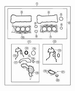 2014 Jeep Wrangler Gasket  Crossover Water Outlet   3 6l