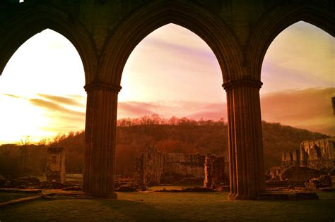 Sunset at Rievaulx Abbey. | Days out in yorkshire, North ...
