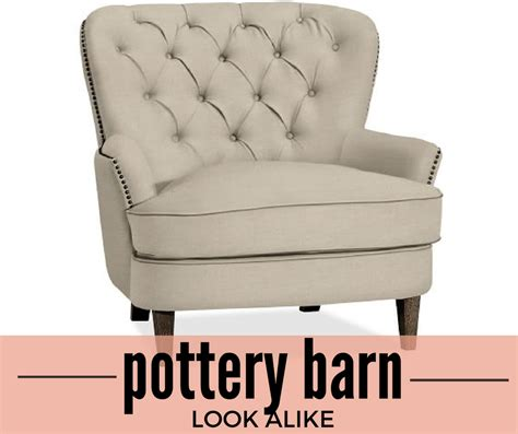 Pottery Barn Aaron Chair Look Alike by Pottery Barn Look Alike Cardiff Tufted Upholstered Chair