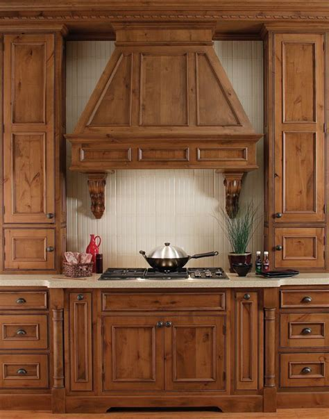 #Rustic Cabin #Kitchen Design with Knotty Wood #Cabinets