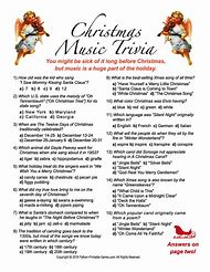 Free Printable Christmas Trivia Questions And Answers Printable