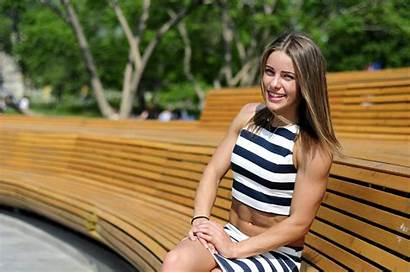 Valeria Gym Guznenkova Clothes Shoot Leg Leisure