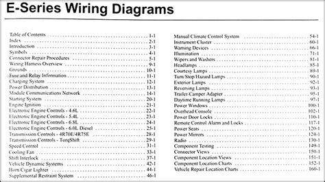 ford econoline van club wagon wiring diagram manual