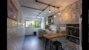 3 room hdb kitchen renovation design youtube With 3 room hdb kitchen renovation design