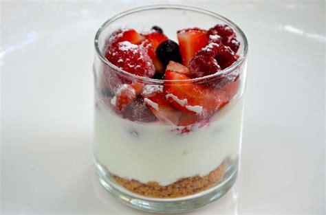 verrines de fruits au chocolat blanc recette
