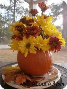 Simple Fall Pumpkin Centerpiece