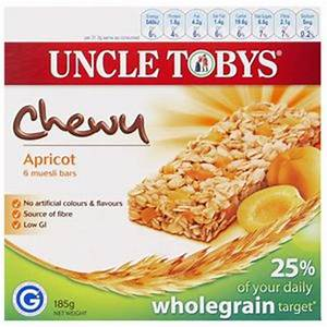 Uncle Tobys Chewy Apricot Muesli Bars 6 Pack | Officeworks