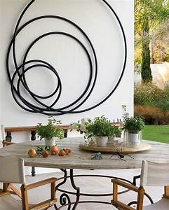20 creative outdoor wall decor ideas fomfestcom With what kind of paint to use on kitchen cabinets for outdoor metal butterfly wall art