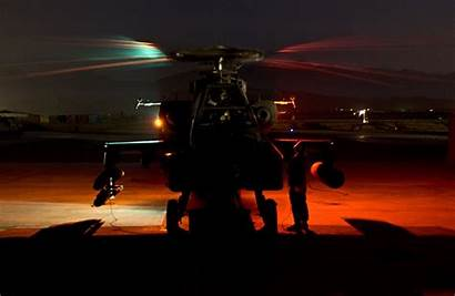 Cav Night Army 1st Air Helicopter Apache