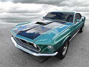 1969 Green 428 Mach 1 Cobra Jet Ford Mustang Photograph by Gill Billington