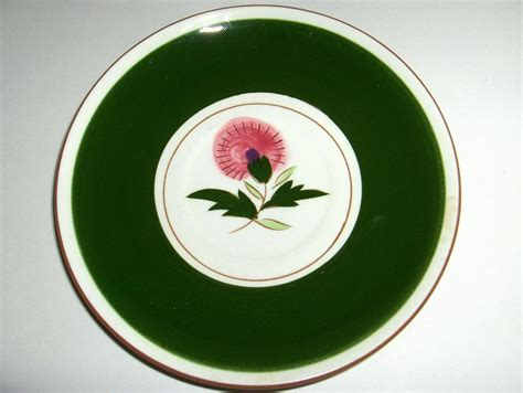 Beautiful Stangl Pottery Vintage Thistle Pattern Saucer