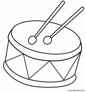 Drum - Coloring Page (Musical Instruments)