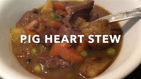 fast  cooking pig heart stew cookganic