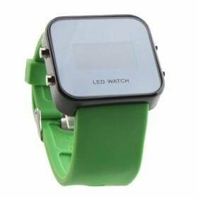 LED Watch with Mirror interface neon blue SW002 HUAXIA
