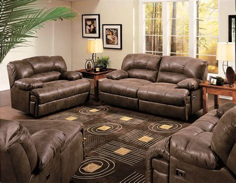 wall hugger reclining sofa brown leather recliner loveseat house decoration