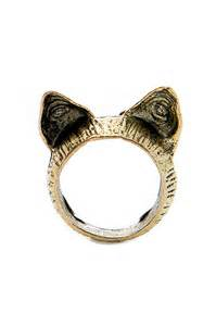 cat ear ring retro cat ears ring oasap