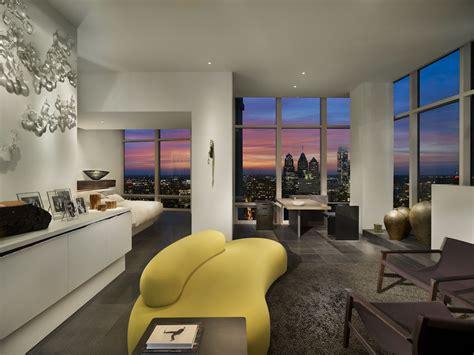stunning modern penthouse apartment  philadelphia