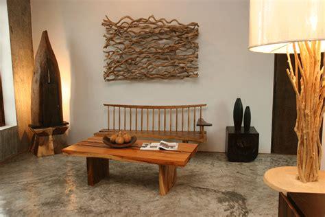green home decor natural wood furniture settings  asian