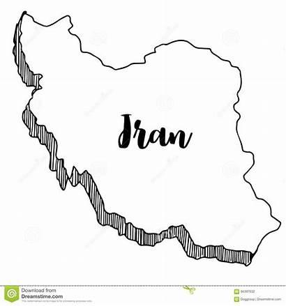 Iran Gezeichnet Karte