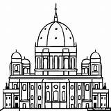 Coloring Cathedral Pages Berlin Places Landmarks Famous Germany Church Dome Dom Rock Historical Building Designlooter Sketch Printable Berliner 43kb 560px sketch template