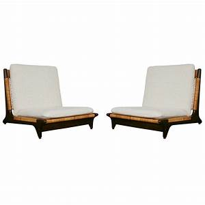 Pair of Hans Olsen Low Chairs at 1stdibs