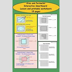 26 Best Images About Perimeter And Area On Pinterest  Perimeter Of Rectangle, Math And Geometry