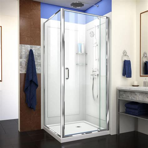 Shower Stalls & Kits  The Home Depot Canada. Gray Yellow Area Rug. White Kitchen Dark Floors. Turquoise Dresser. Av Closet. Glass Closet Doors. Curved Curtain Track. Up To Us Furniture. Lighted Wall Art