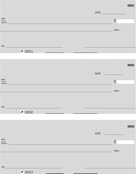Free Blank Check Template Pdf by Blank Check Template Free Premium Templates
