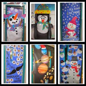 rainbowswithinreach winter themed decorated classroom doors