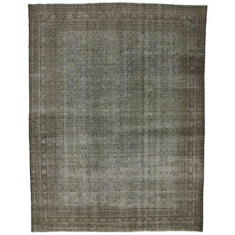 distressed area rug distressed antique tabriz area rug at 1stdibs