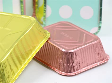 colored foil containers  lids  food packaging