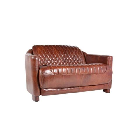 canapé cuir marron canape 2 places en cuir marron vintage