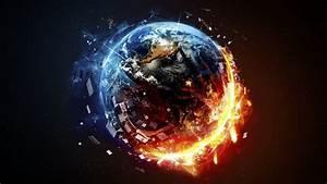 Fondos de pantalla Destrucción del planeta, fuego, espacio ...