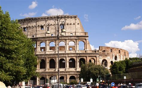 Beautiful Colosseum Rome Italy Great Atmosphere