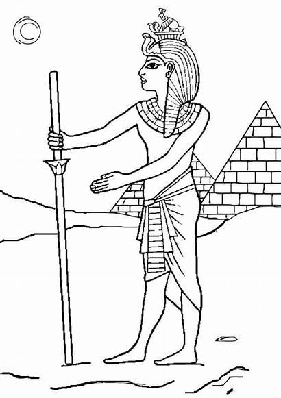Pharaoh Coloring Egyptian Colouring Egito Joseph Desenho