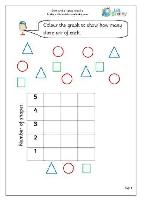 sort and display results handling data maths worksheets