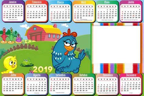 Calendário 2019 Horizontal Galinha Pintadinha Imagem