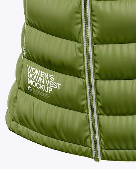 See the lists of truck mockup templates and chose best one for your vehicle. Matte Womens Down Vest Whood Mockup Back Half Side View ...