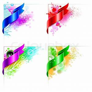 Vector abstract corner design with floral elemrnts and