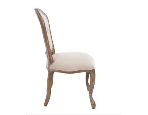 chaise capitonné chaise louis xv chene velours beige jolipa fauteuil