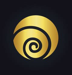 gold swirl logo vector images