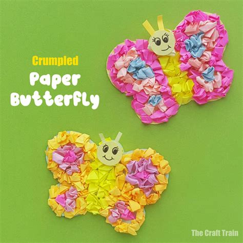 paper butterfly craft  craft train