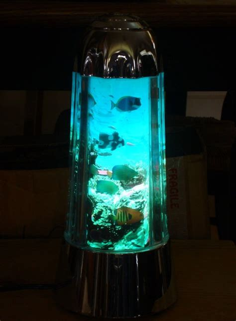 spencers lava l fish tank sea aquarium lava l light lite with swimming