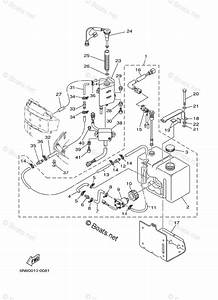 Yamaha Outboard Parts By Year 2001 Oem Parts Diagram For Oil Tank