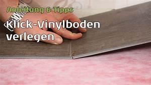Klick Vinyl Verlegen Auf Fliesen : klick vinylboden verlegen anleitung youtube ~ Frokenaadalensverden.com Haus und Dekorationen